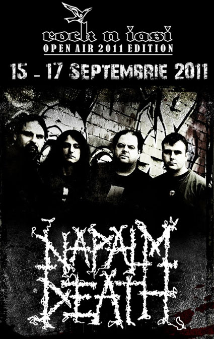 rock in iasi napalm death poster