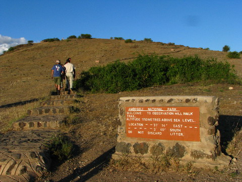 Observation hill Amboseli Park