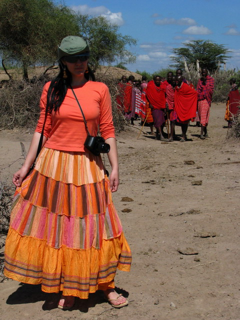 eu in satul de masai