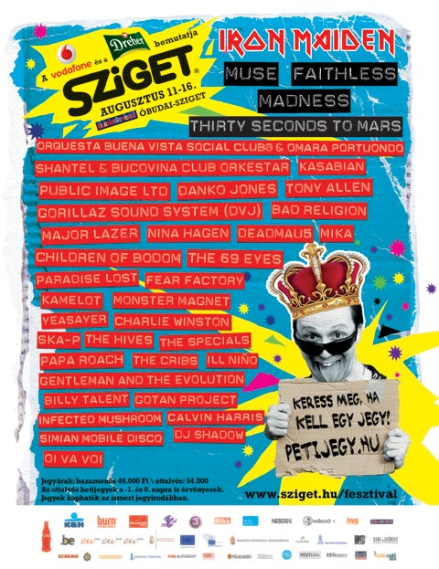 poster sziget festival 2010