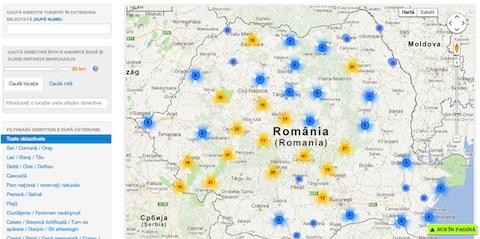 Harta Turistica A Romaniei Harta Rutiera A Romaniei